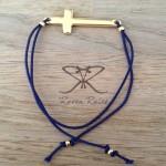 Raven Rules Gold Cross Dark Blue