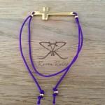 Raven Rules Gold Cross Purple