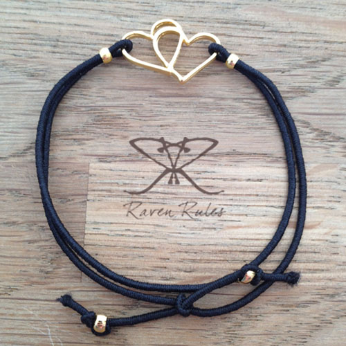 Raven Rules Gold Hearts Black