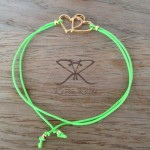 Raven Rules Gold Hearts Neon Green