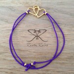 Raven Rules Gold Hearts Purple