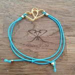 Raven Rules Gold Hearts Turquoise