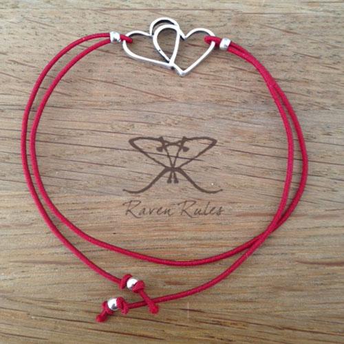 Raven Rules Silver Hearts Bordeaux