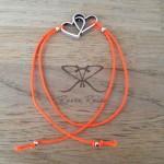 Raven Rules Silver Hearts Neon Orange