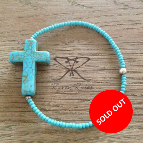 Raven Rules Big Cross Turquoise Total